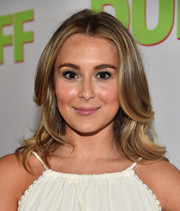 Alexa Vega wore her hair with a center part and face-framing waves during the fan screening of 'The Duff.'