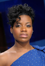 Fantasia Barrino looked edgy with her short curls as she visited the BET Studio.