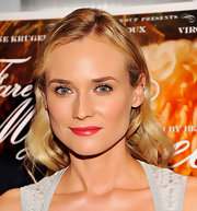 Diane Kruger highlighted her lips with a berry red hue.