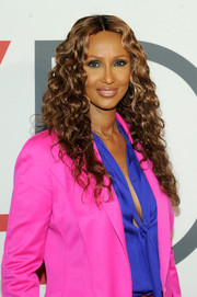 Iman framed her face with long, tight curls for the First Ladies Luncheon.