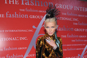 Daphne Guinness attends the Fashion Group International's 28th annual Night of Stars at Cipriani Wall Street on October 27, 2011 in New York City.