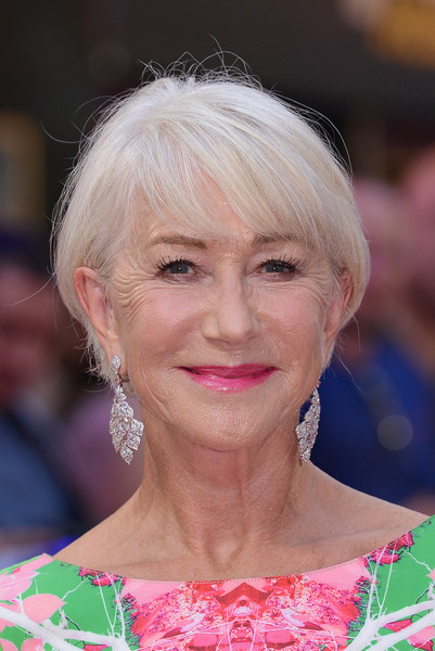More Pics of Helen Mirren Pink Lipstick (1 of 30) - Helen Mirren Lookbook - StyleBistro [fast and furious: hobbs and shaw special screening - red carpet arrivals,fast furious: hobbs shaw special screening,hair,face,hairstyle,blond,chin,eyebrow,lip,premiere,feathered hair,bangs,helen mirren,england,london,the curzon mayfair]