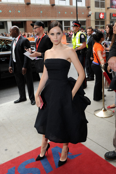 Felicity Jones Strapless Dress