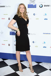 Barbara Schoeneberger wore a short-sleeve LBD at the Felix Burda Award.