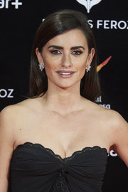 Penelope Cruz opted for a simple straight hairstyle when she attended the Feroz Awards.