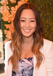Aimee Song attended the Veuve Clicquot Polo Classic wearing fabulous ombre waves.