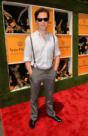 Star Trek actor Benedict Cumberbatch donned a pair of suspenders for this Polo Classic.