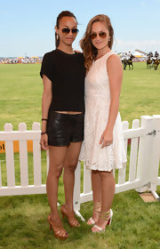 Minka Kelly sported a pair of wide rimless sunglasses at the Fifth Annual Veuve Clicquot Polo Classic in Jersey City.
