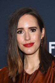 Louise Roe opted for a simple straight, shoulder-length hairstyle when she attended the Great British Film Reception.