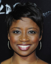 Montego Glover kept it casual and cute with this pixie cut at the NYC screening of 'Oldboy.'