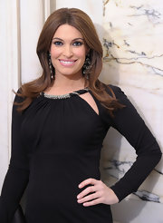 Kimberly Guilfoyle oozed retro elegance at the 'Films Without Borders Launch' with this sleek center-parted 'do.