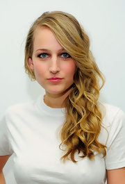 Leelee Sobieski showed off her long curls while hitting the New York screening of 'Finding Bliss'.