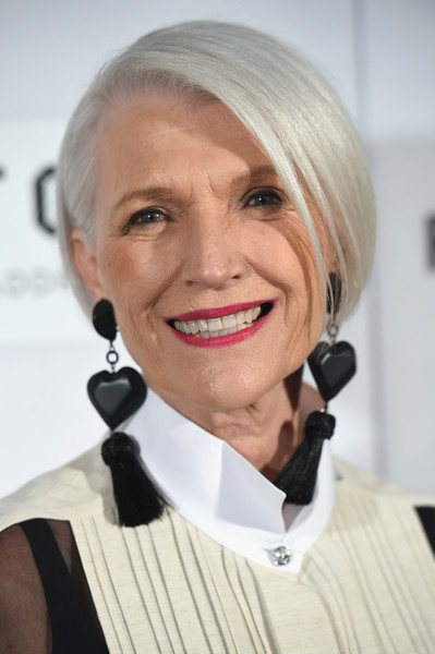 Maye Musk showed off a perfectly neat bob at the world premiere of 'First Monday in May.'