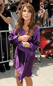 Paula completed her satin purple gown with two Re Sole rings while attending the first auditions of 'The X Factor.'
