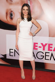 Alison Brie looked white hot in this sporty fitted dress at the Tribeca Film Festival premiere of 'The Five Year Engagement.'