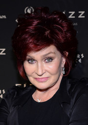 Sharon Osbourne wore her hair in a teased bob at the Fizz Las Vegas grand opening.