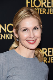Kelly Rutherford wore a casual loose ponytail at the New York premiere of 'Florence Foster Jenkins.'