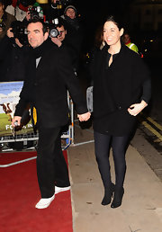 Attending a screening of 'Food Inc' in London, Mary McCartney completed her black-on-black ensemble with a cozy oversize cardigan.
