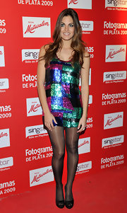 Amaia Salamanca stepped out at the Fotogramas Awards wearing a pair of black peep-toe pumps.