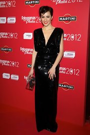 Ana Turpin channeled some old glamour with this black sequined gown.