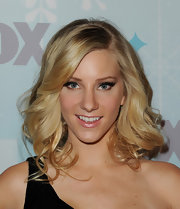 Heather Morris looked retro fab in false eyelashes. The dramatic additions gave her an adorable cateye look.