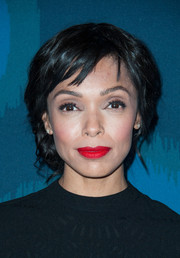 Tamara Taylor wore her hair in an elegant loose updo during the Fox All-Star party.