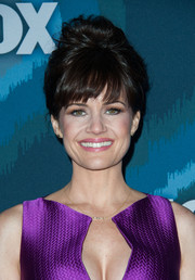 Carla Gugino piled her hair up in a messy beehive for the Fox All-Star party.