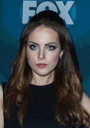Elizabeth Gillies oozed retro charm with her teased half-up 'do at the Fox All-Star party.