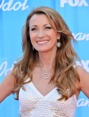 Jane Seymour wore her hair in her signature style featuring long wavy layers.