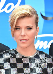 Kimberly Perry traded in her signature blonde waves for a teased pinned updo.