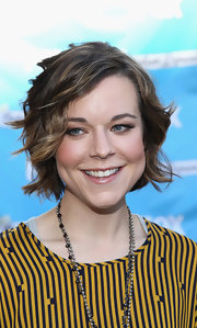 Tina Majorino wore her short hair in pretty tousled waves at the 'Napoleon Dynamite' Sound-A-Like contest.