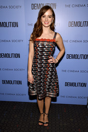 Ahna O'Reilly went the girly route in this fully embroidered dress by Tory Burch for the screening of 'Demolition.'