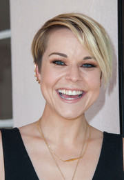 Tina Majorino looked super cool with her short emo cut at the 'Napoleon Dynamite' 10th anniversary event.