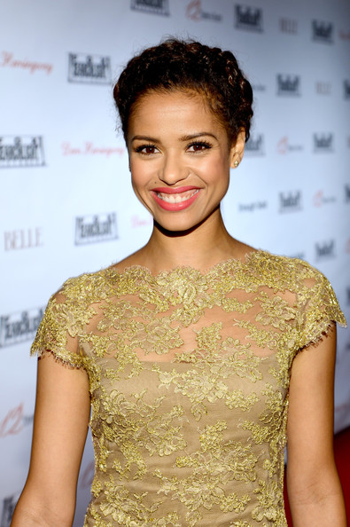 More Pics of Gugu Mbatha-Raw Pink Lipstick (3 of 4) - Gugu Mbatha-Raw Lookbook - StyleBistro [hair,hairstyle,fashion,fashion model,dress,beauty,shoulder,cocktail dress,lip,premiere,gugu mbatha raw,toronto,canada,spice route,red carpet,fox searchlight,party,fox searchlight tiff,2013 toronto international film festival]