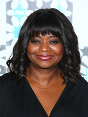 Octavia Spencer sported her usual wavy style with wispy bangs during the Fox Summer TCA All-Star Party.