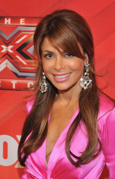 Paula Abdul wore her long tresses super-sleek with side-swept bangs during 'The X Factor' season finale.