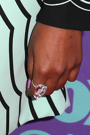 Mindy Kaling rocked a massive ring at the Fox 'Girls Night Out' event.