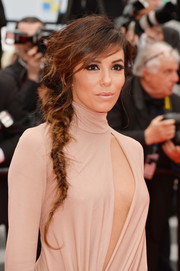 Eva Longoria rocked a messy-chic fishtail braid at the 'Foxcatcher' premiere.