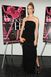 Mickey Sumner chose a sleek strapless, column-style maxi for her look at the premiere of 'Frances Ha' in NYC.