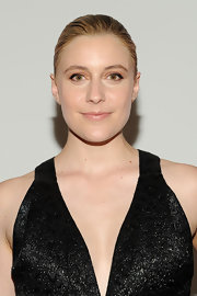 Great Gerwig chose a slicked back bun for her cool and contemporary look at the premiere of 'Frances Ha.'