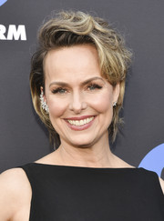 Melora Hardin went for a messy-chic short 'do at the Freeform Summit.