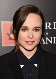 Ellen Page pulled her hair back into a glam ponytail for the New York premiere of 'Freeheld.'