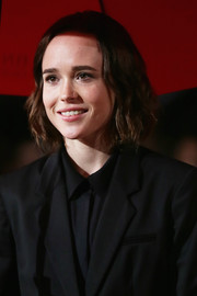Ellen Page wore her hair in a wavy bob at the Rome Film Fest screening of 'Freeheld.'