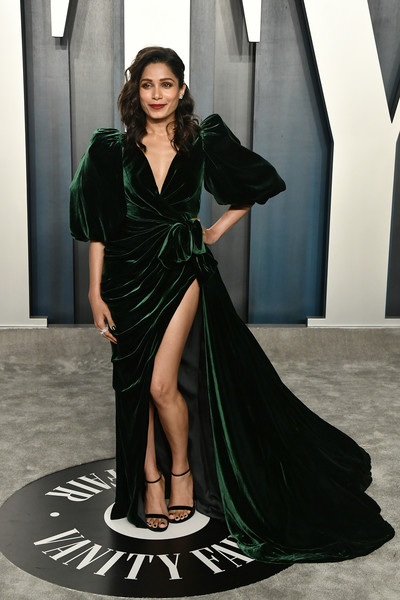 Freida Pinto Wrap Dress