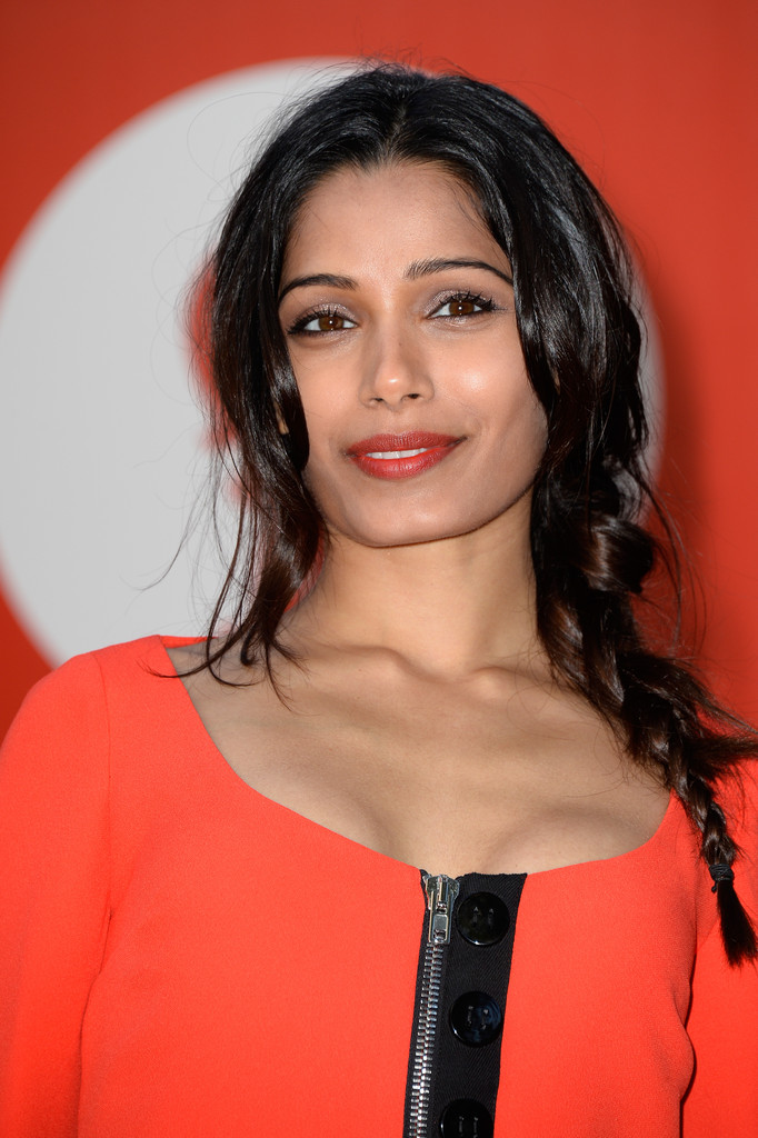 Freida Pinto Long Braided Hairstyle Freida Pinto Hair