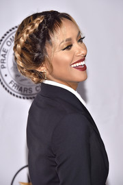 Kat Graham looked fetching wearing this French braid at the Friars Club event honoring Tony Bennett.