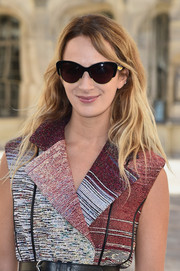 Alexia Niedzielski attended the Dior show looking retro-chic in her cateye sunnies.
