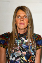 Anna dello Russo wore her hair in sleek straight layers during the Valentino Couture fashion show.