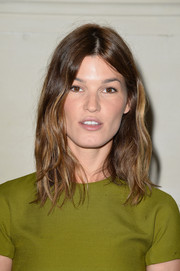 Hanneli Mustaparta sported beach-chic tousled waves at the Valentino Couture fashion show.