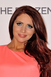 Amy Childs stuck to cascading waves for the premiere of 'The Frozen Ground.'